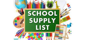 Fox River Middle School Supply List for 2018-19