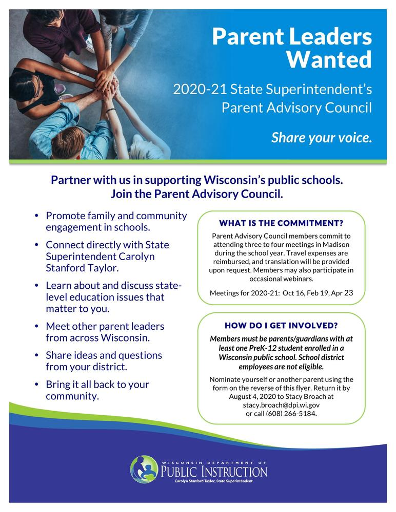 Parent Leaders Wanted
