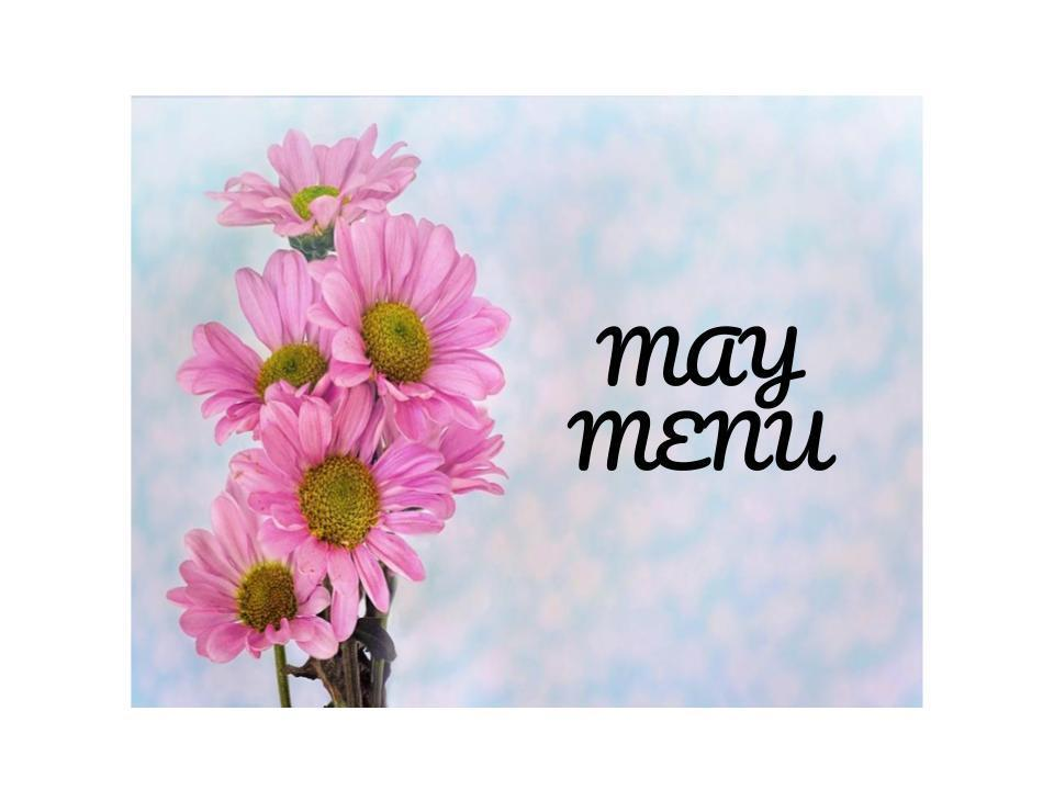 May Menus