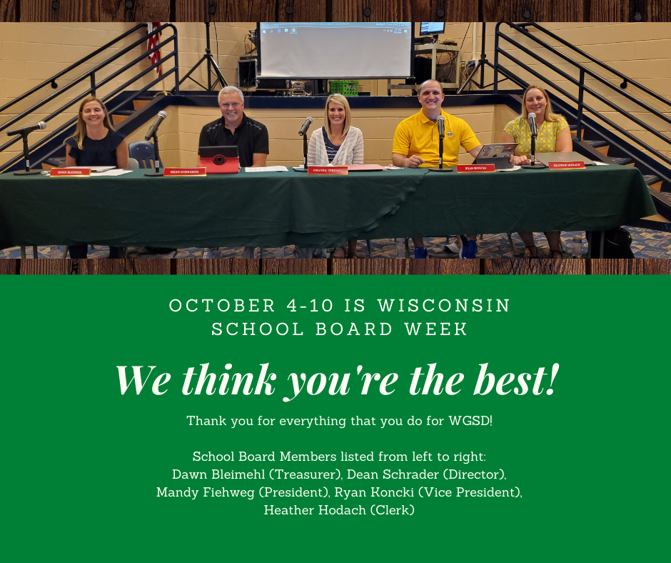 Wisconsin School Board Week October 4-10