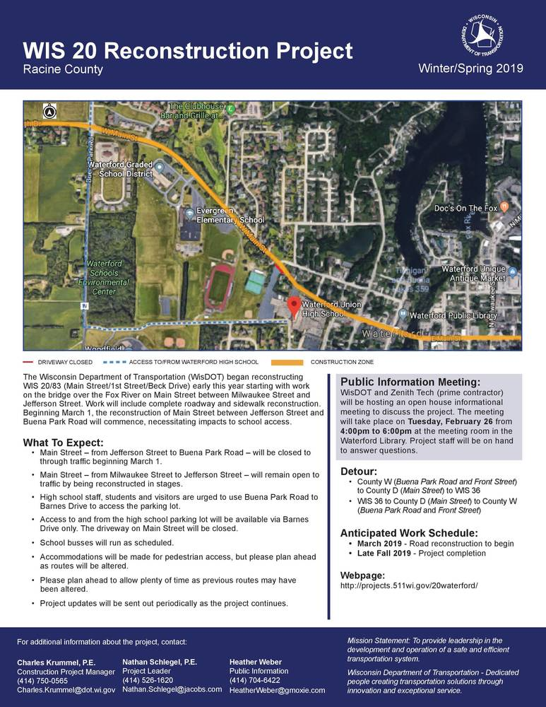 WIS 20 Reconstruction Project