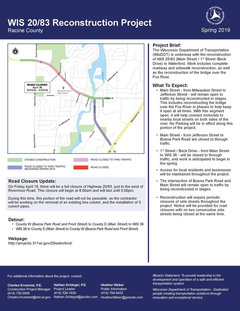 WIS 20/83 RECONSTRUCTION PROJECT