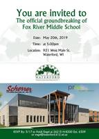 Invitation of Official Groundbreaking for Fox River Middle School