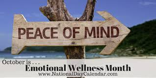 October is Emotional Wellness Month