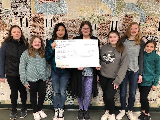 Fox River Middle School - Make A Wish donation